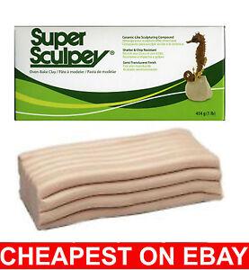 SUPER SCULPEY POLYMER CLAY Original Beige 1lb 454g  FRESH STOCK CHEAPEST ON EBAY