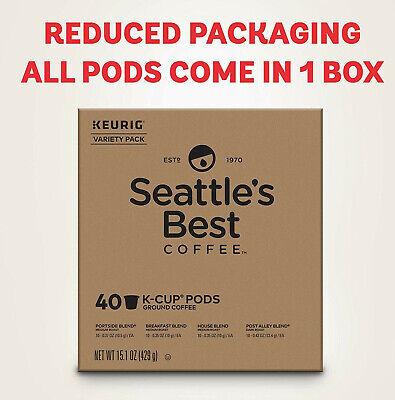 Seattle's Best Keurig Variety Pack k-cups pods Breakfast, House blends,