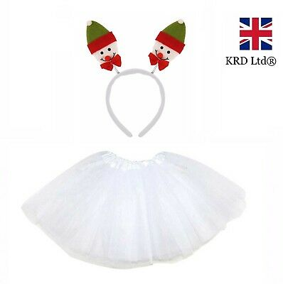 SNOWMAN TUTU COSTUME Kids Ladies Teens Christmas Party Fancy Skirt Dress NEW UK