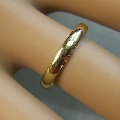 18 ct gold second hand plain band ring