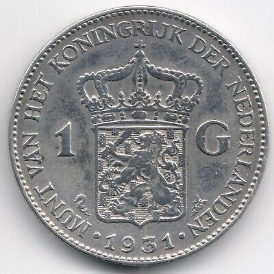 Netherlands : 1 Gulden 1931 Silver