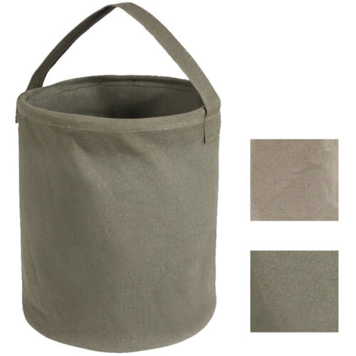 Canvas Water Bucket Collapsible Heavy Duty Tool Carrier Folding with Handles