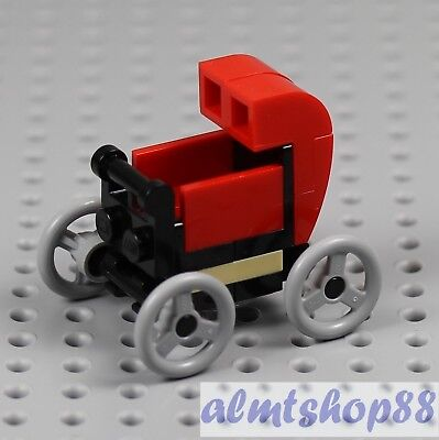 LEGO - Red Stroller - Baby Boy Girl Infant Minifigure Sitter Shower 10255 Town - Lego Baby Shower