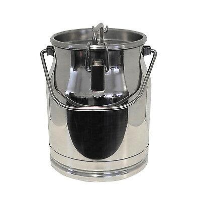 10 Liter Milchkanne Edelstahl Deckel mit Gummidichtung Tragebügel auslaufsicher
