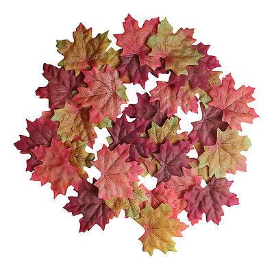 100 Maple Fall Leaf Mixed Autumn Leaves Decorations Wedding School Displays - Fall Leaves Decorations