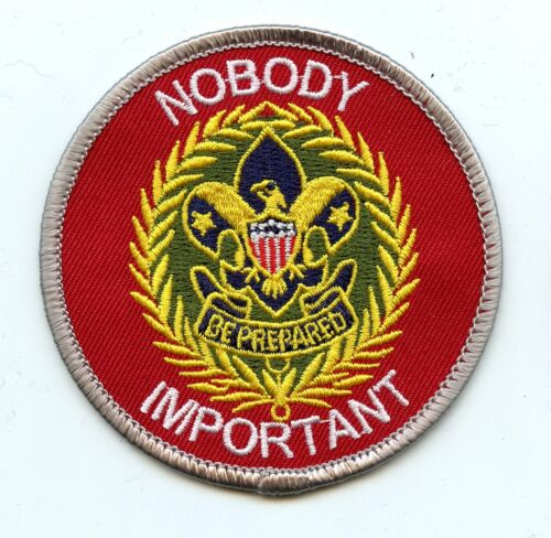 """""""Nobody Important"""" commissioner patch.  Joke/spoof patch"""