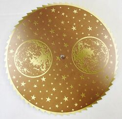 New Brown & Gold Grandfather Clock Moon Dial Replacement Parts (C-571)