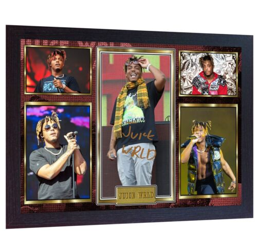 NEW! Juice Wrld Rap music Framed Photo PRINT signed autograph POSTER Perfect