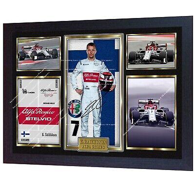 15454f58 New Kimi Raikkonen Alfa Romeo Formula 1 signed autographed photo print  Framed