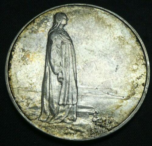 1914 Norway 2 Kroner Constitution Silver Coin