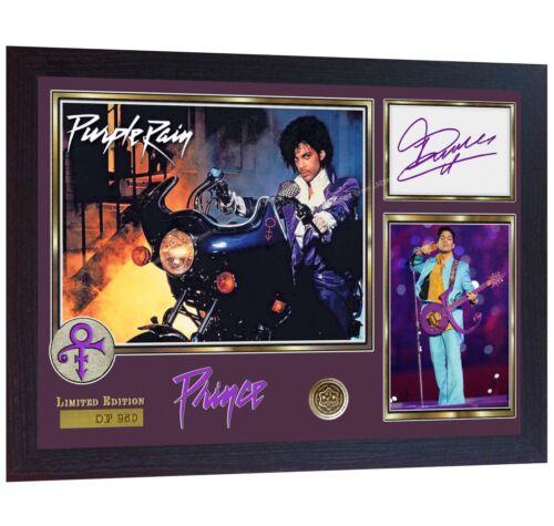 PRINCE Rogers Nelson signed autograph photo print Purple Rain album rock Framed