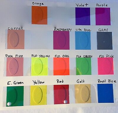 Transparent Colored Vinyl Plastic Sheets, with Adhesive, pick your color & size