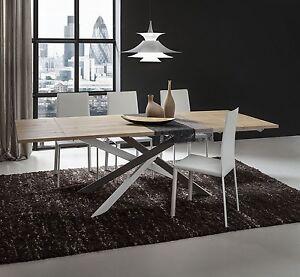 Tavolo soggiorno pr renzo allungabile 170 250 cm rovere for Offerte tavoli da pranzo