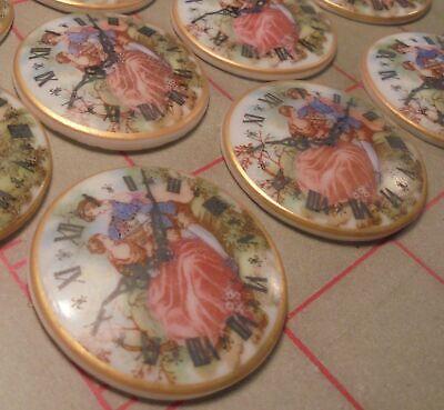 2 Vintage Cabochon Embellishments Western Germany 35mm 'A Ti