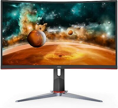 """AOC CQ27G2 27"""" Super Curved Frameless Gaming Monitor new!!!!"""