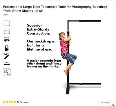 Professional Large Tube Telescopic For Photography Backdrop Trade Show Display -
