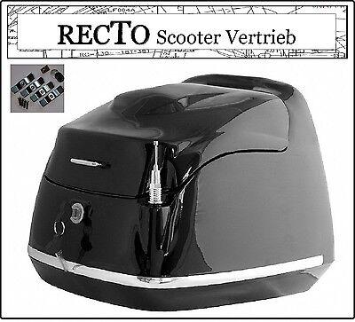 Grand Retro Classic Roller Top Case Koffer Helm Mofa Scooter 40Liter BOX schwarz