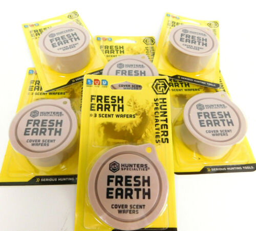 6X - Hunters Specialties  Fresh Earth Scent Wafers 3 Wafers | Cover Scent Wafers