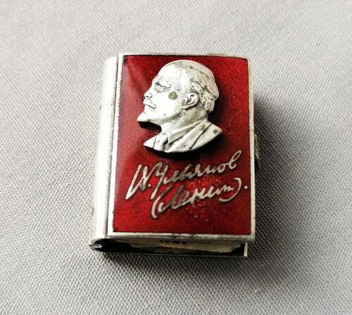 Vintage Propaganda Silver book miniature souvenir Lenin Propaganda Ulyanov