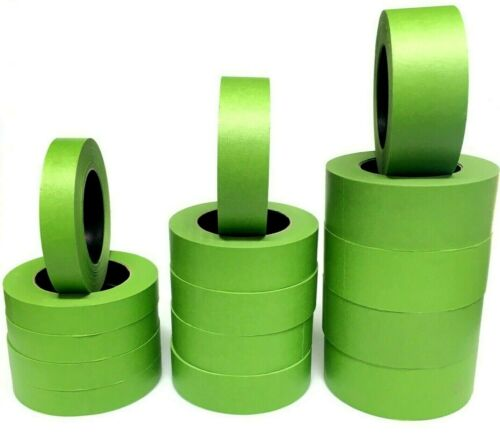 """1"""", 1 1/2"""", 2""""X60yds FROG Green Painters Masking Tape USA Made. BLEMS-CASE"""
