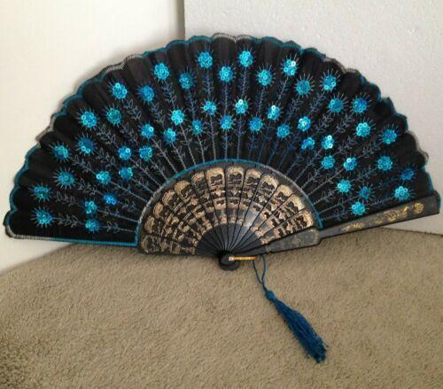 "15"" Portable Hand Folding Fan - Spanish style"