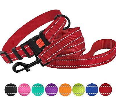 Reflective Dog Collar Leash Set Pet Puppy Dog Collars for Sm