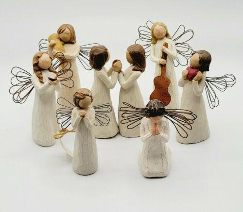 Demdaco Willow Tree Figurine Angels By Susan Lordi Set of 8 Pre-owned