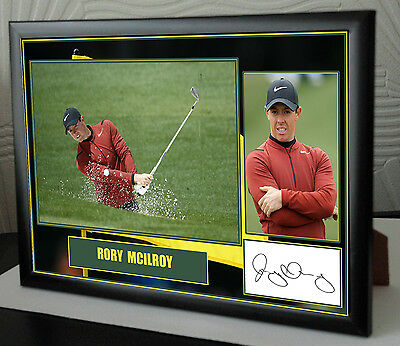 Rory Mcilroy Masters Framed Canvas Portrait Signed