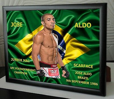 "Jose Aldo Canvas Tribute Print  ""Great Gift & Souvenir"""