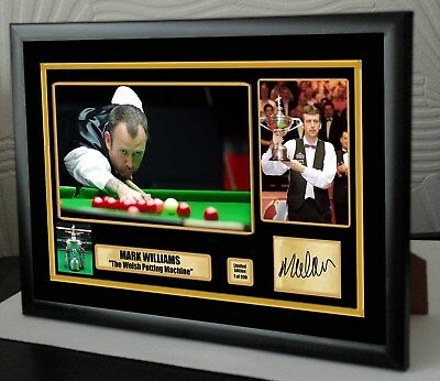 "Mark Williams World Champion Snooker Framed Canvas Print Signed. ""Great Gift"""