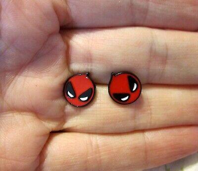Deadpool Earrings~Stud