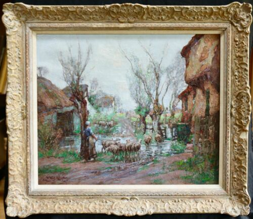 WILLIAM WATT MILNE (1865-1949) LARGE SIGNED IMPRESSIONIST OIL PAINTING