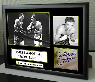 "Jake LaMotta  World Champion Canvas Print Signed ""Great Souvenir"""