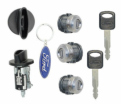 Ford F250 F350 '99-'07 - Ignition Cylinder, 2 Door Locks & Tailgate Lock w/2Keys