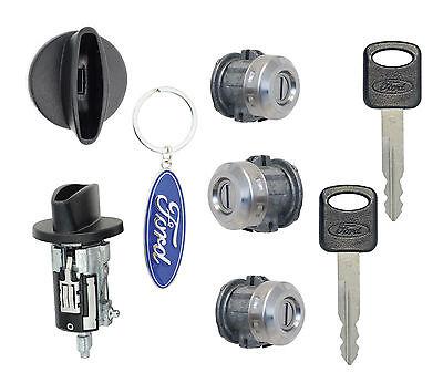 Ford F250 F350 '99-'07 - Ignition Cylinder, 2 Door Locks & Tailgate Lock w/2Keys