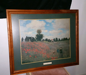 Poppies by Claude Monet - Large frame Green Valley Liverpool Area Preview