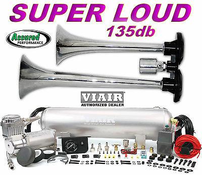 TRUCK TRAIN AIR HORN VIAIR 275c 150psi COMPRESSOR 2.5gal Kit for Cars Trucks etc