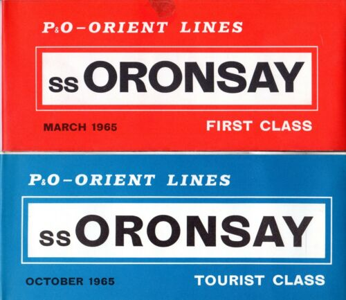 P&O-Orient ORONSAY First & Tourist Plans w/ Interiors- NAUTIQUES sHiPs WORLDWIDE