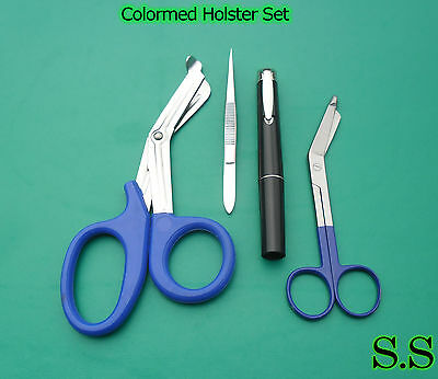 Colormed Holster Set Ems Blue Emt Diagnosticblue Lister Bandage Scissor Ds-1203