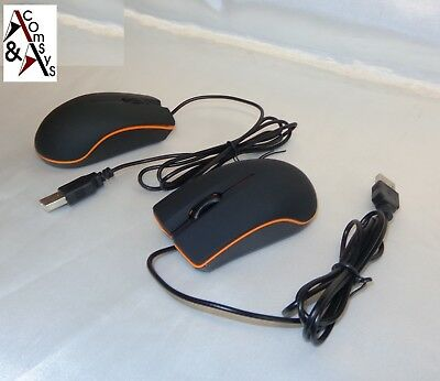 Optische Mini Maus Mouse 1000dpi 3D USB für PC Laptop Notebook Black/Orange