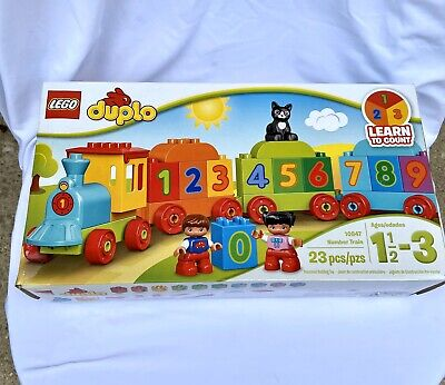 LEGO Duplo Learn To Count Number Train (10847) 23 Pieces - Scuffed Packaging