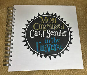The Bright Side Birthday Card Organiser 'Most Organised' Card Organisation Book