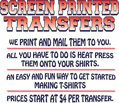 аппликации CUSTOM SCREEN PRINTED TRANSFERS