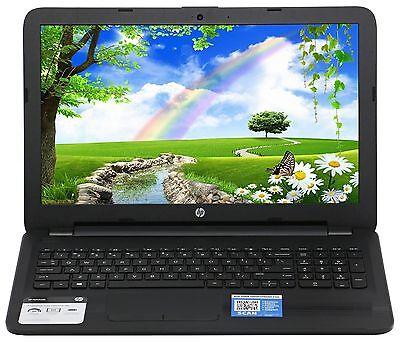 HP 15.6 4GB Ram 500GB HD Quad Core AMD DVD RW Windows 10 Webcam HDMI 10Key R