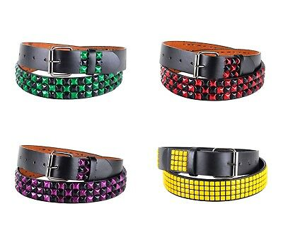 Unisex Studs Belt Leather Belt Buckle Multi Color Pyramid Punk Rock - Pyramid Stud Belt