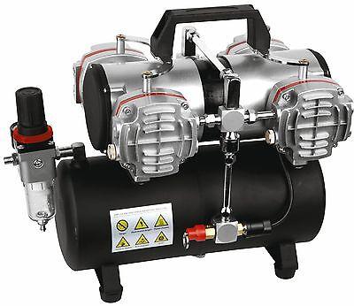4 Zylinder Airbrush Kompressor AS-48A Kolbenkompressor 4 Liter Kessel 6bar Neu