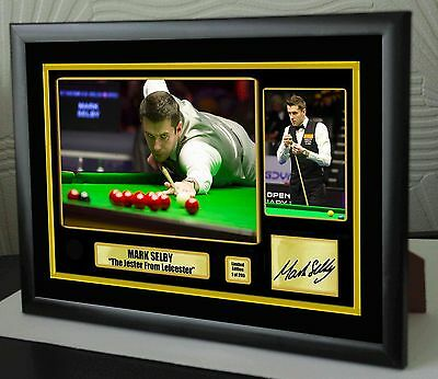 """Mark Selby World No 1 Champion Snooker Framed Canvas Print Signed.""""Great Gift"""""""