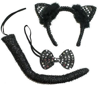 Halloween Costume Accessory 3 Piece Black Cat - Halloween Black Cat Costume