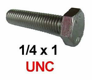 1-4-x-1-Stainless-UNC-Bolts-1-4-20-x-1-Fully-Threaded-Hex-Head-7-16-AF-x10