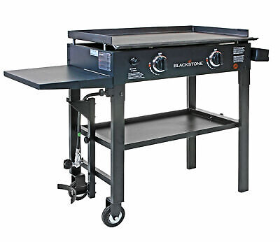 """Griddle Outdoor Cooking Station 28"""" Flat Top Gas Barbecue Griddle 2 Burner Grill"""
